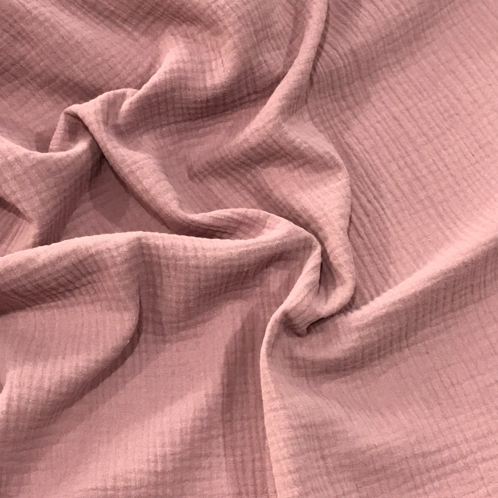 Cotton Double Gauze - Organic Rose