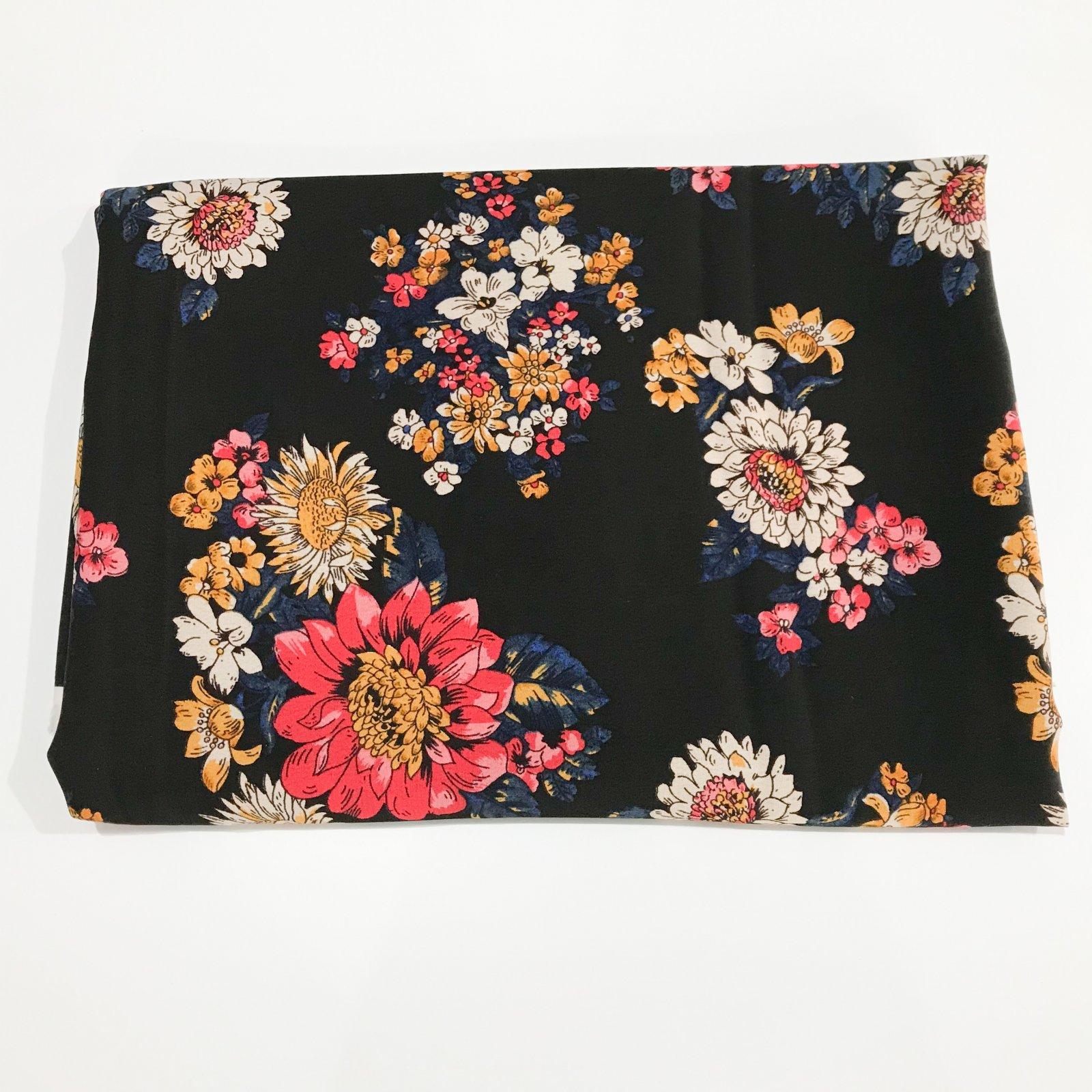 3 yards - Tencel Crepe - Japanese Sunflower