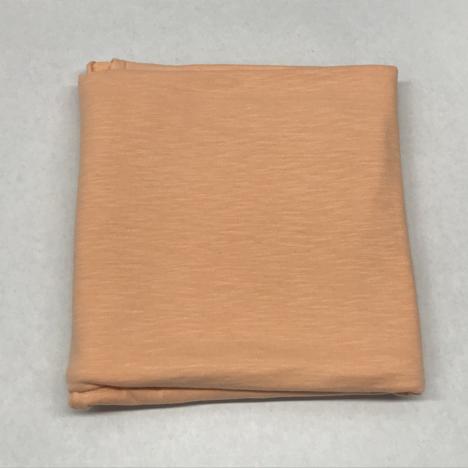 Cotton Slub Peach  Organic - 1 yard