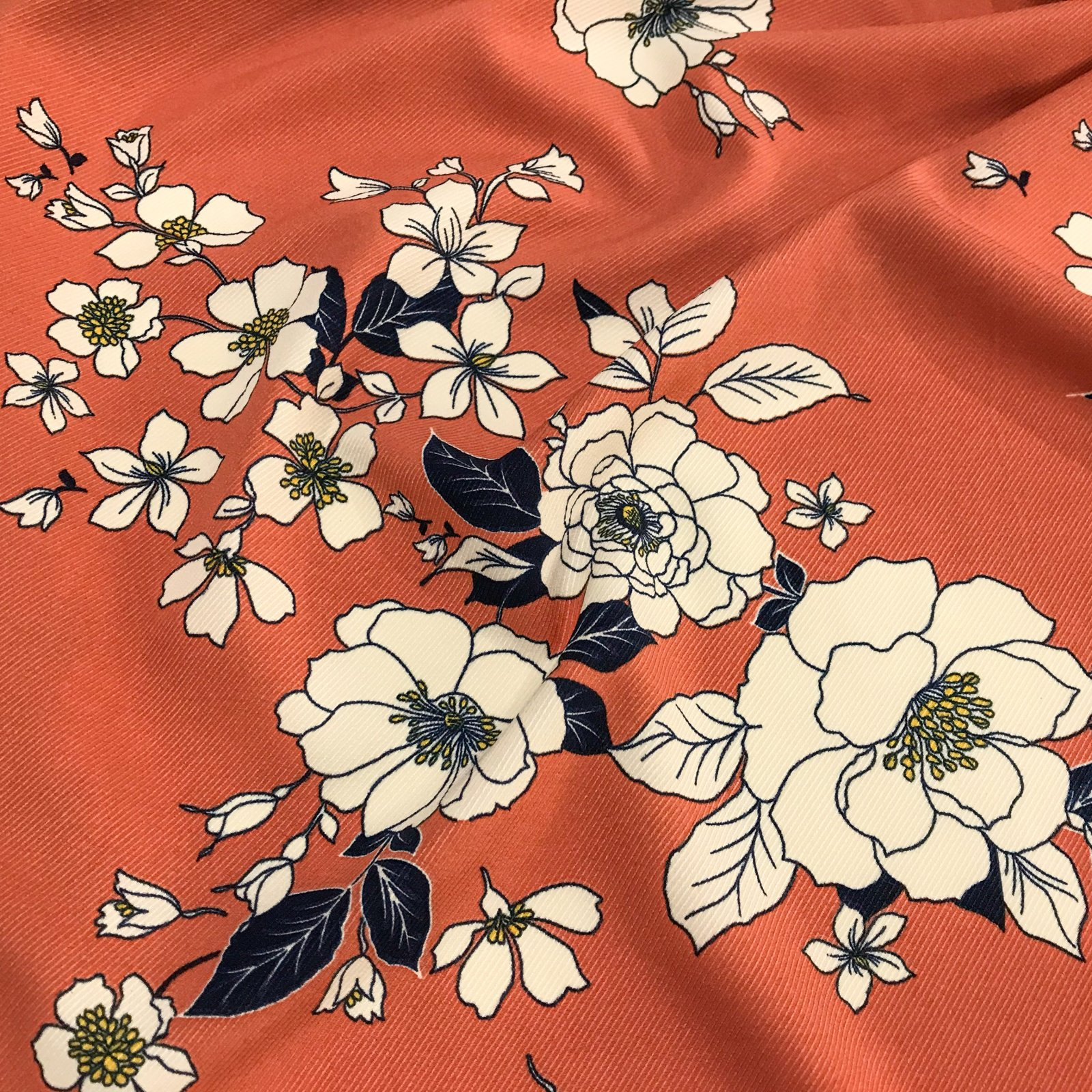 Rayon Twill - Roses on Clay Twill