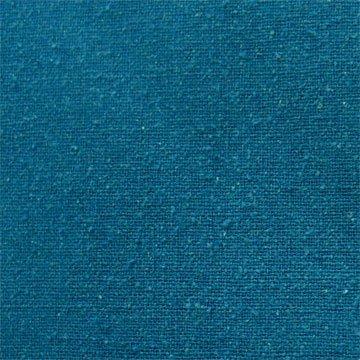 Silk Noil - Teal Blue