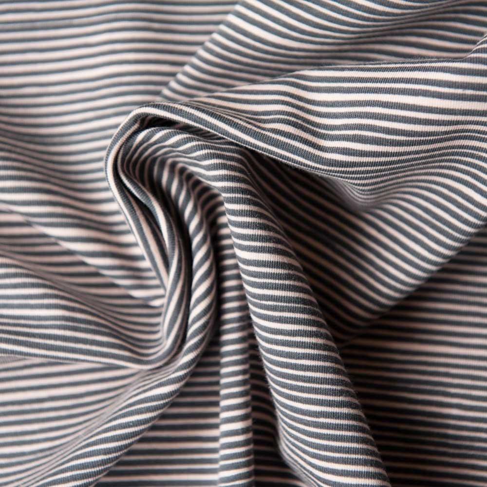 Avalana Jersey - Grey/Coral Stripe