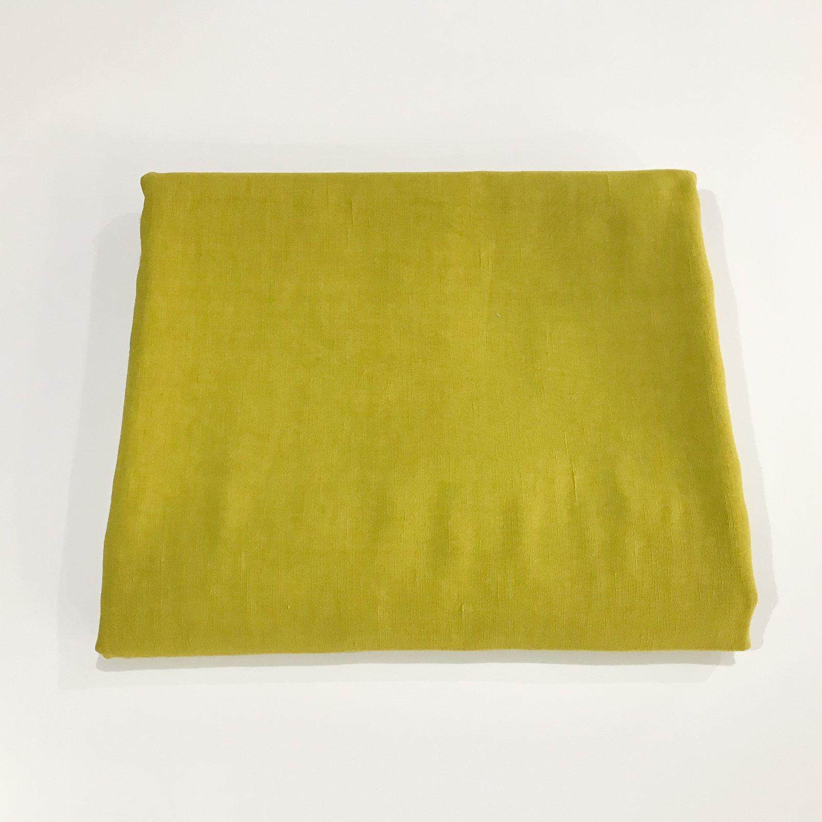 1 7/8 yards - Viscose Linen Slub - Chartreuse