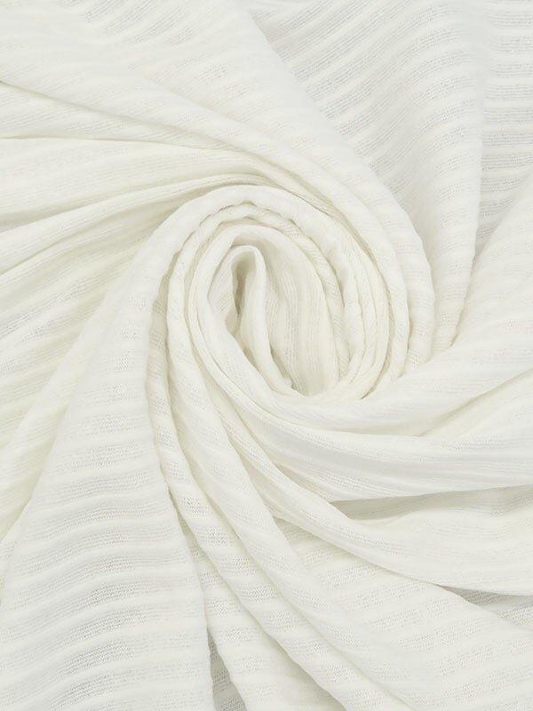 Stripe Weave Jersey - Ivory