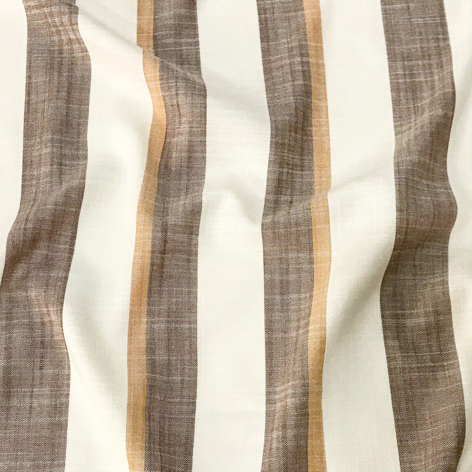Rayon Stripes - Mocha & Carmel