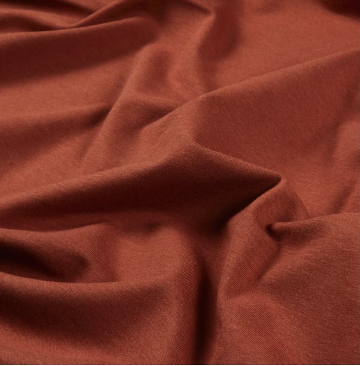 Bamboo-Cotton French Terry - Rust