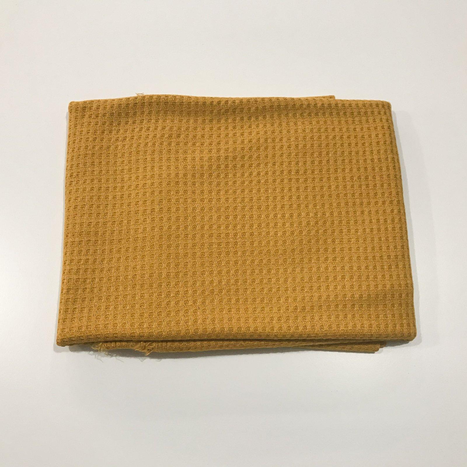 7/8 yards - Rayon Waffle - Mustard