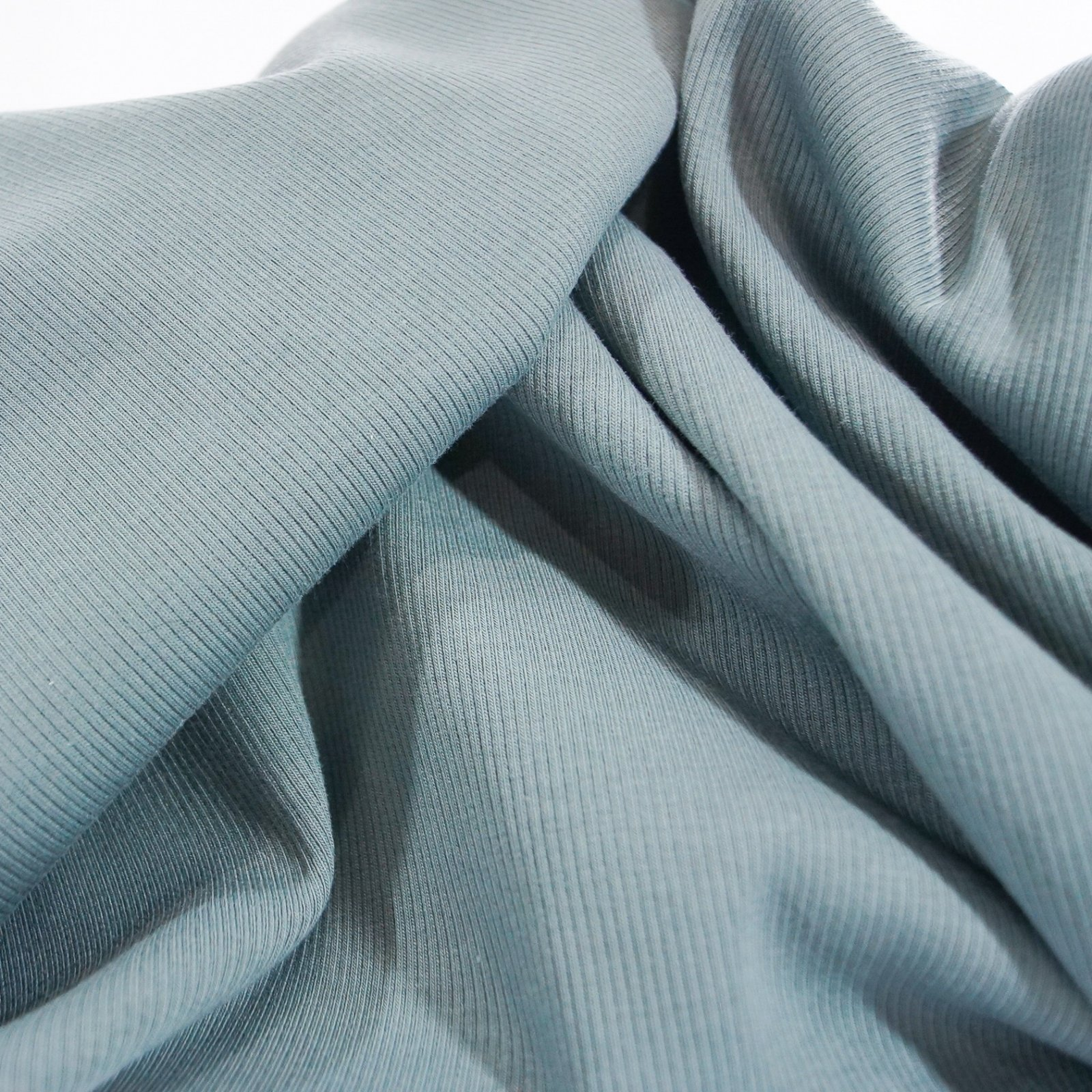 Rib Knit - 2 x 1 -  Organic Spruce