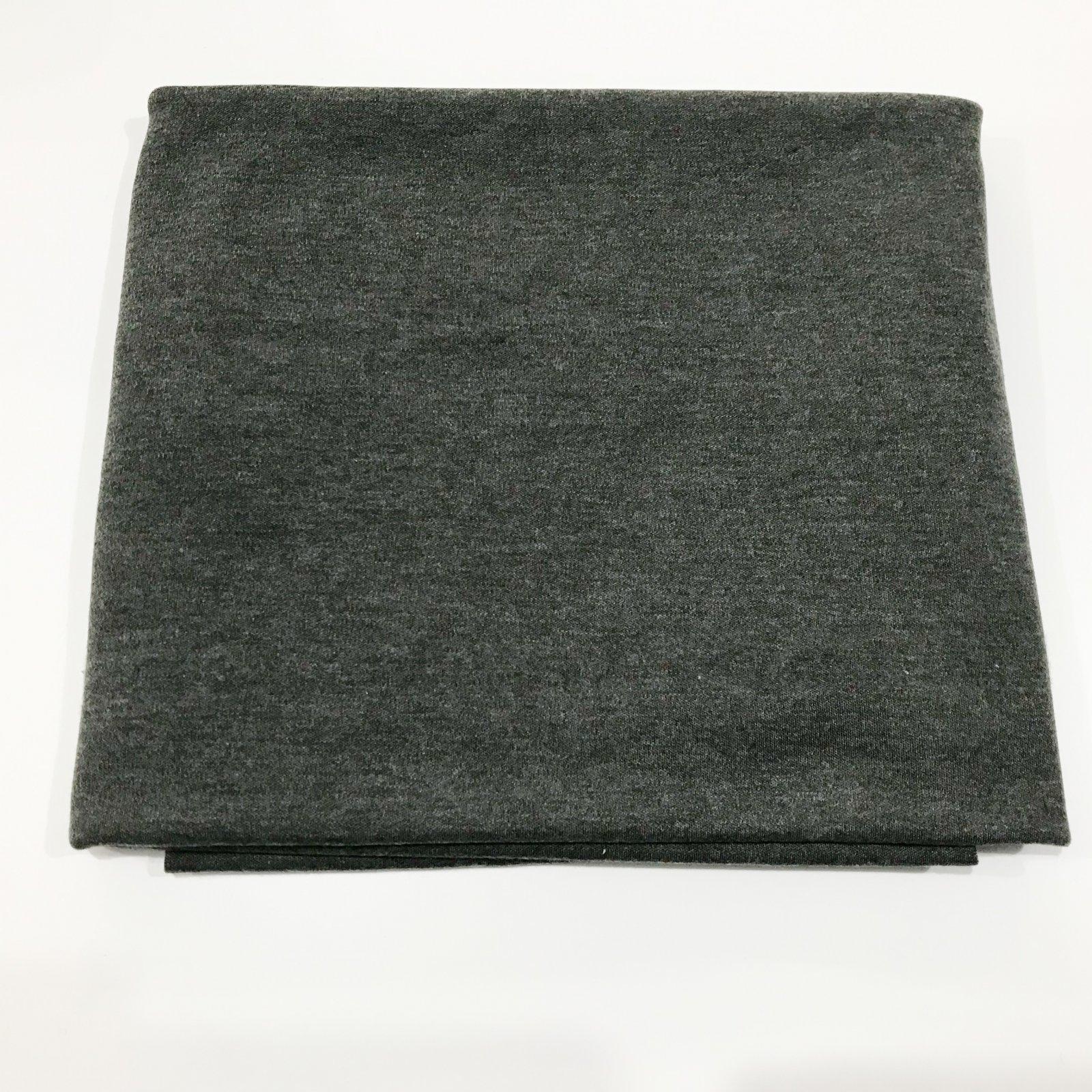 25 inches - Cotton/Poly Interlock - Granite