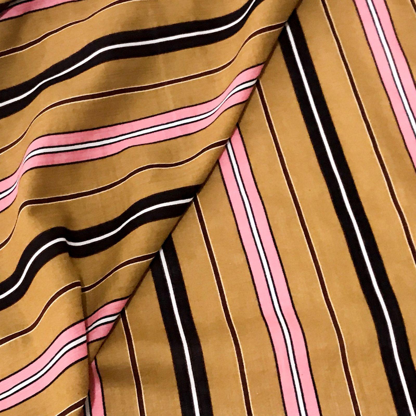 Verona Voile - Mustard Stripes