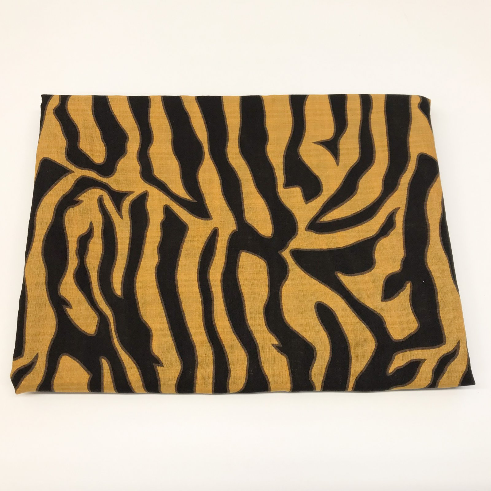 1 yard + 14 inches - Mustard & Black Abstract Zebra
