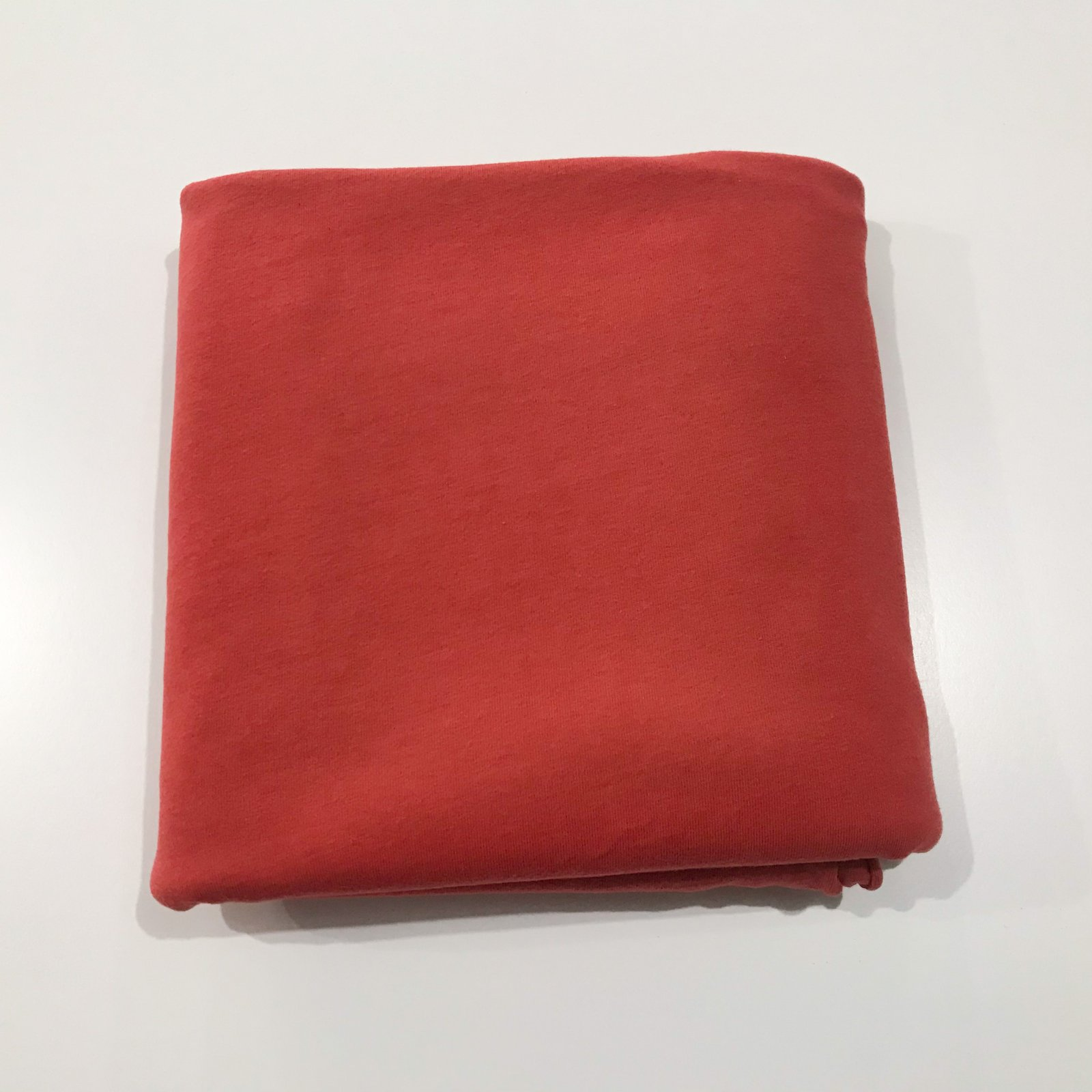 2 yards - Organic Jersey Knit - Rubi Red