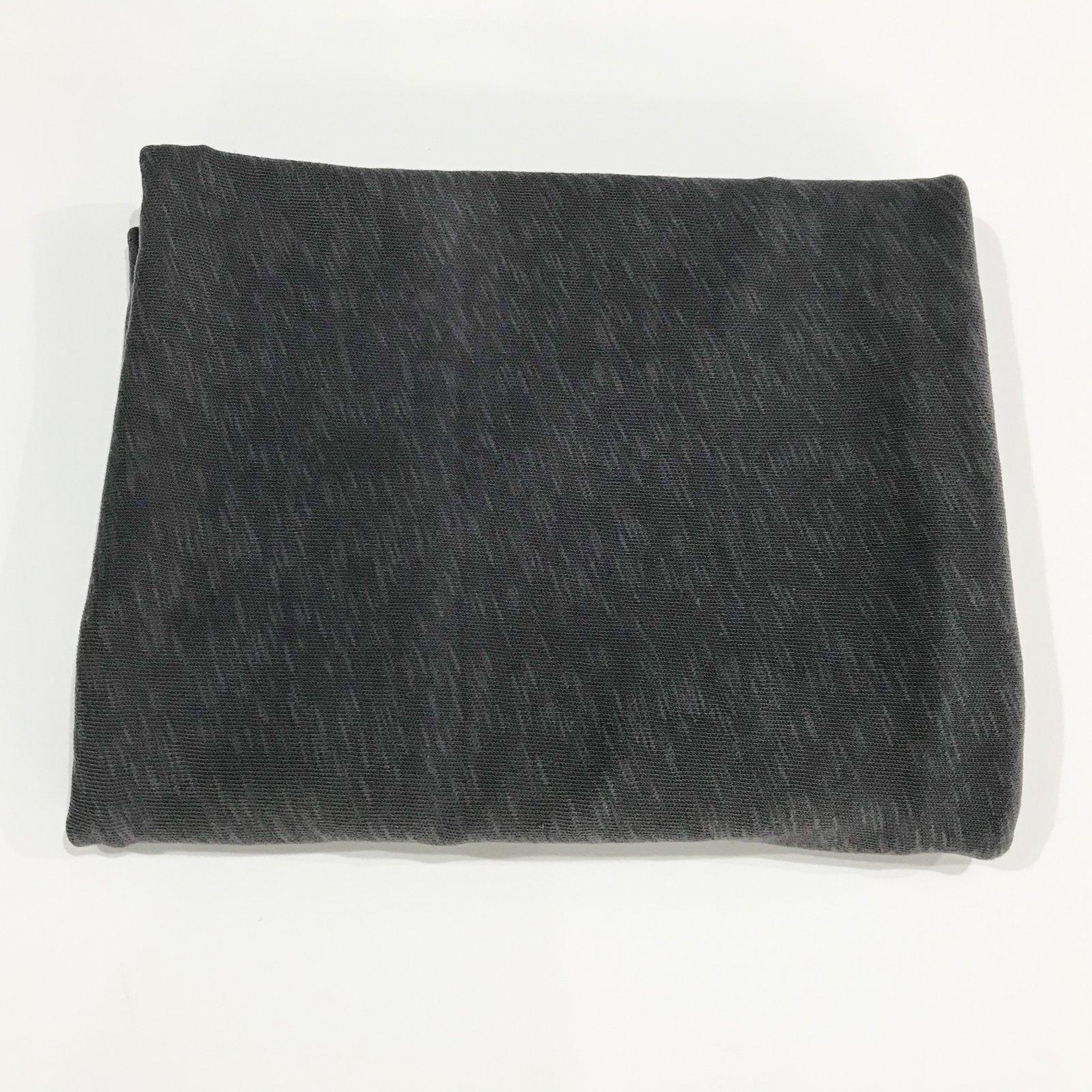 1 yard + 11 inches - Cotton Sweater Slub Knit - Charcoal
