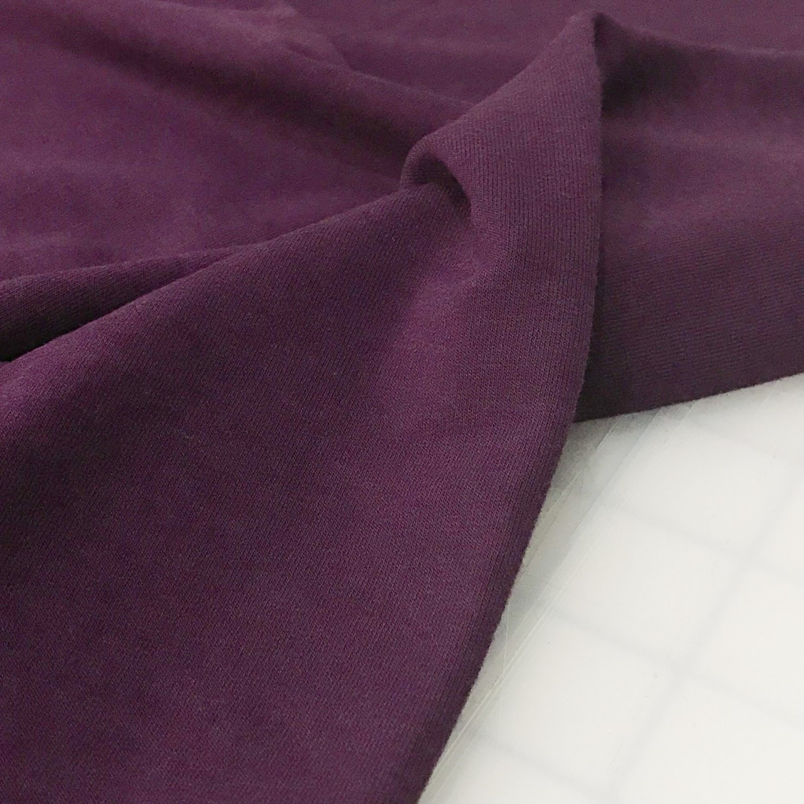 Four Featured Fabrics: Bamboo/Cotton French Terry -  Purple Craze