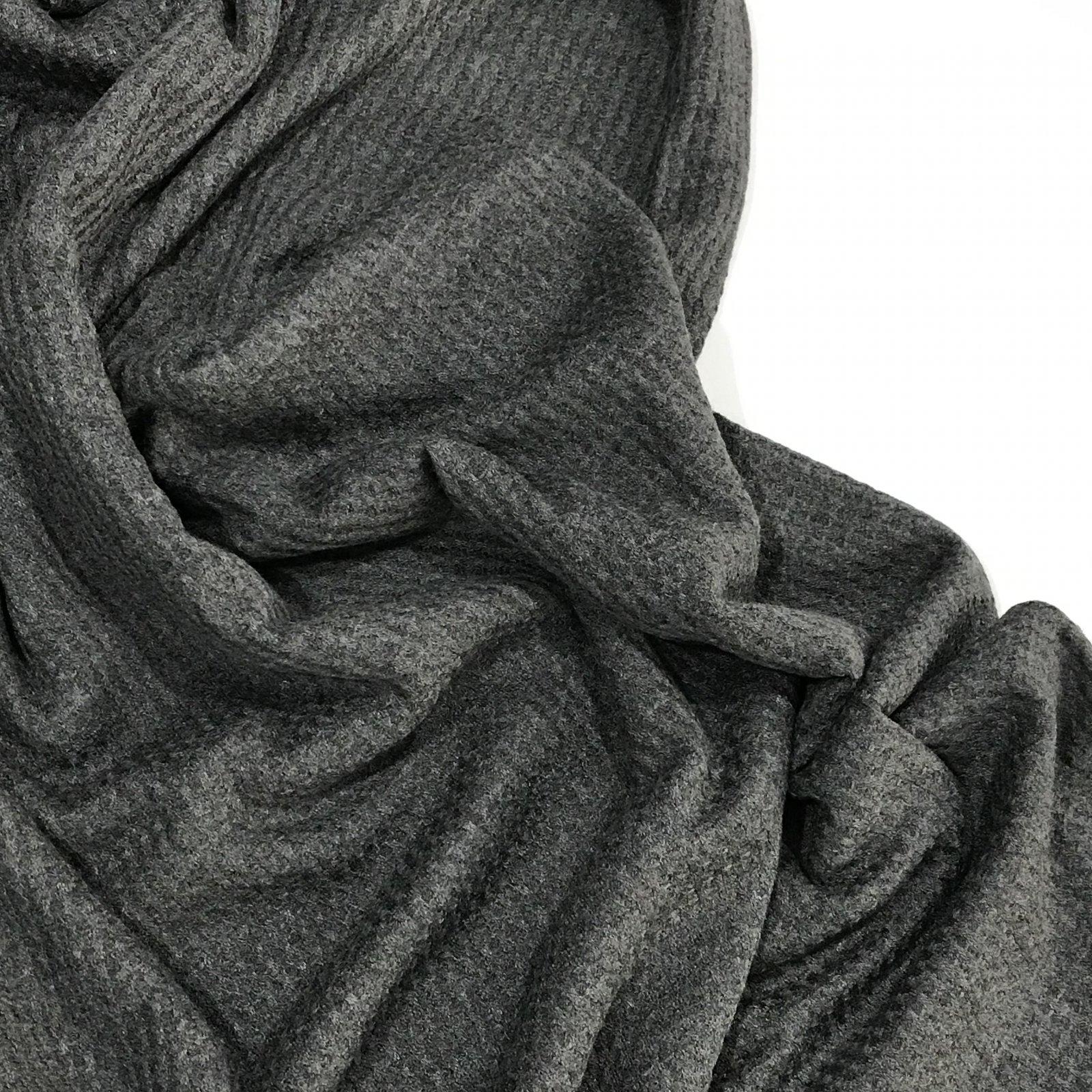 Rayon Waffle Knit - Charcoal