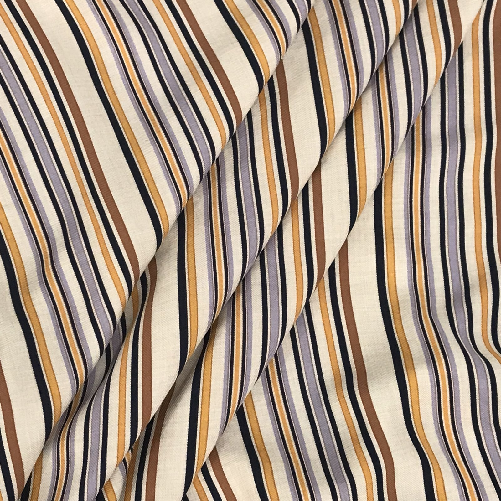 Viscose Stripes -  Lilac & Copper