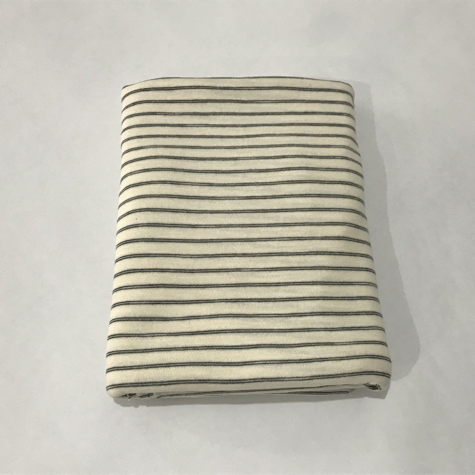 Cotton Knit - Cream with Black Stripes - 2 yards