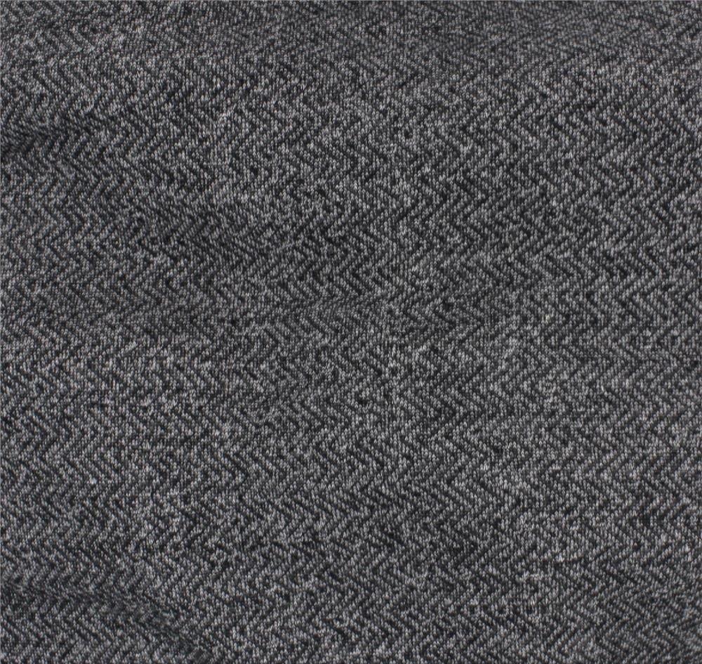 Portland Fleece - Black Herringbone