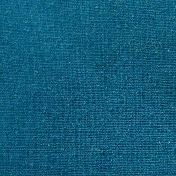 Silk Noil - Teal Blue