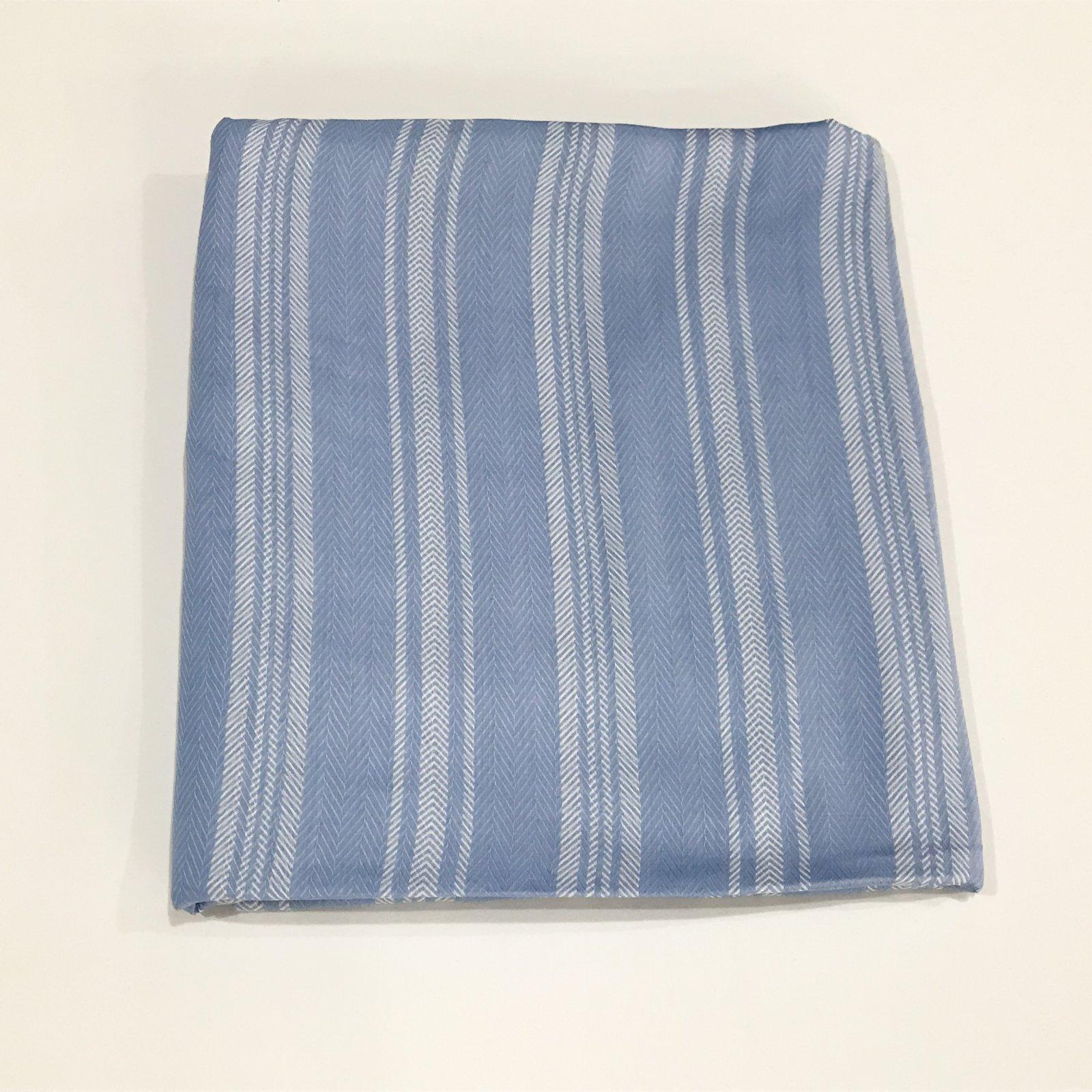 2 1/8 yards - Rayon Pale French Blue Stripe Challis