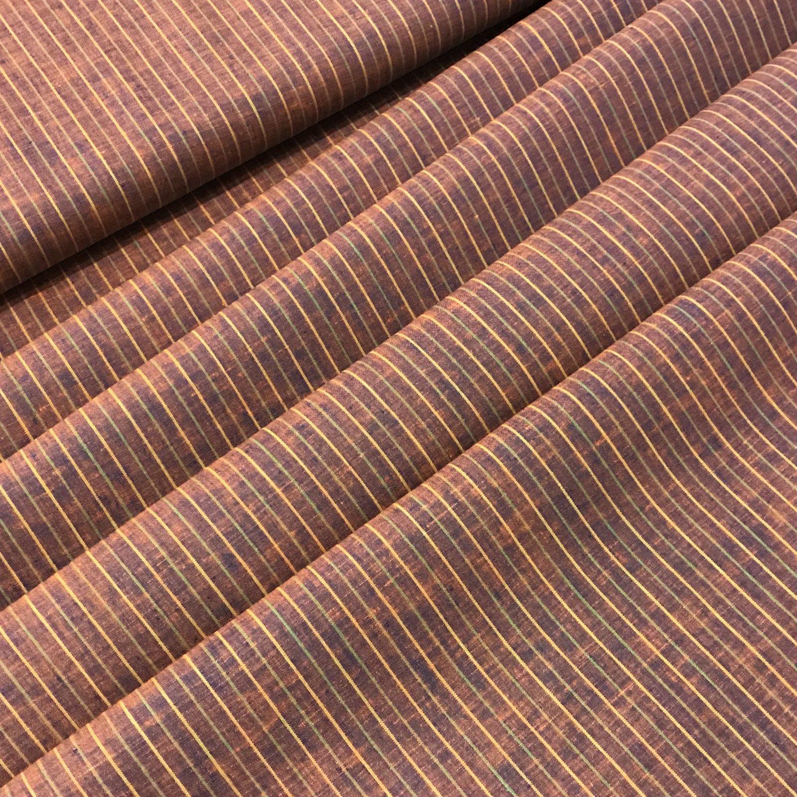 Linen - Iridescent Blue Rainbow Stripe