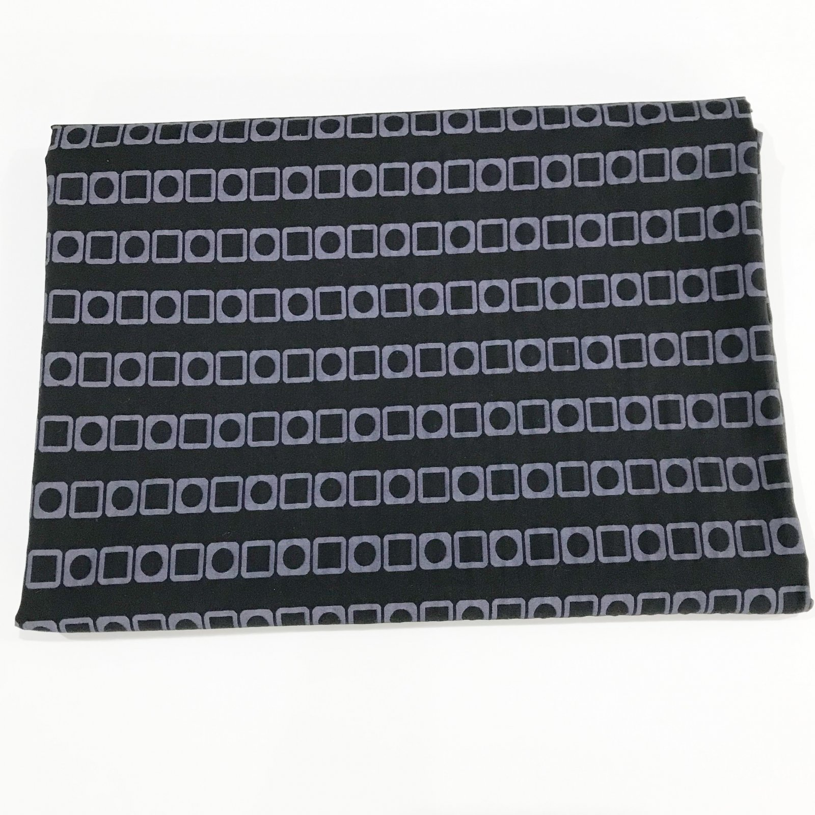 1 yard + 17 inches - Designer Stretch Cotton - Black and Heather
