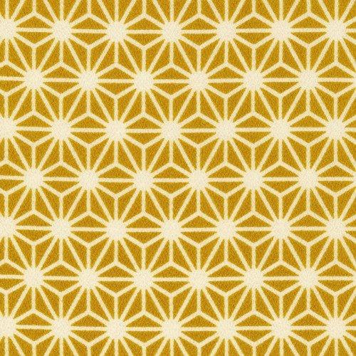 Kokka - Chirimen Loa - Crepe de Chine - Gold