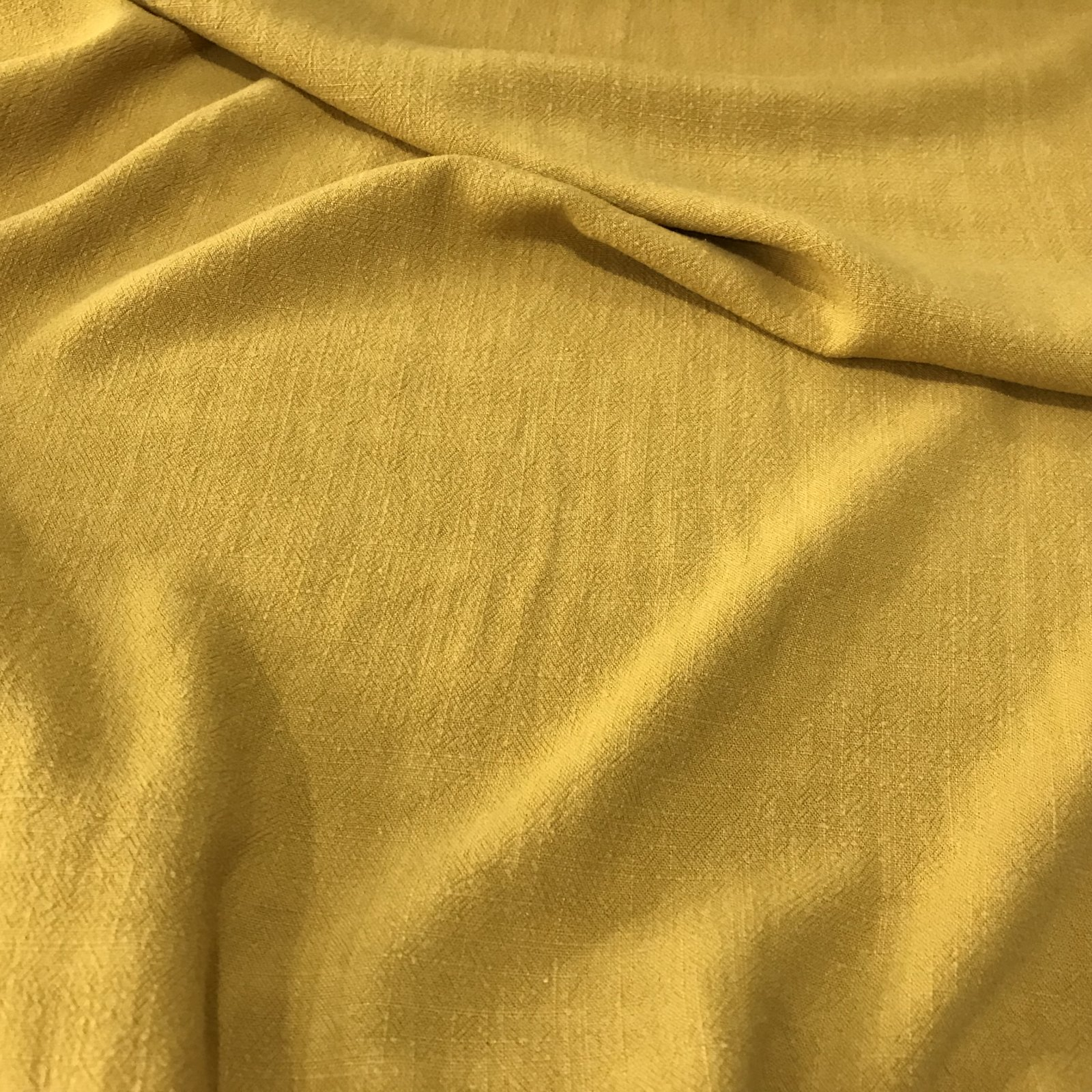 Grace Viscose & Linen Blend - Mustard