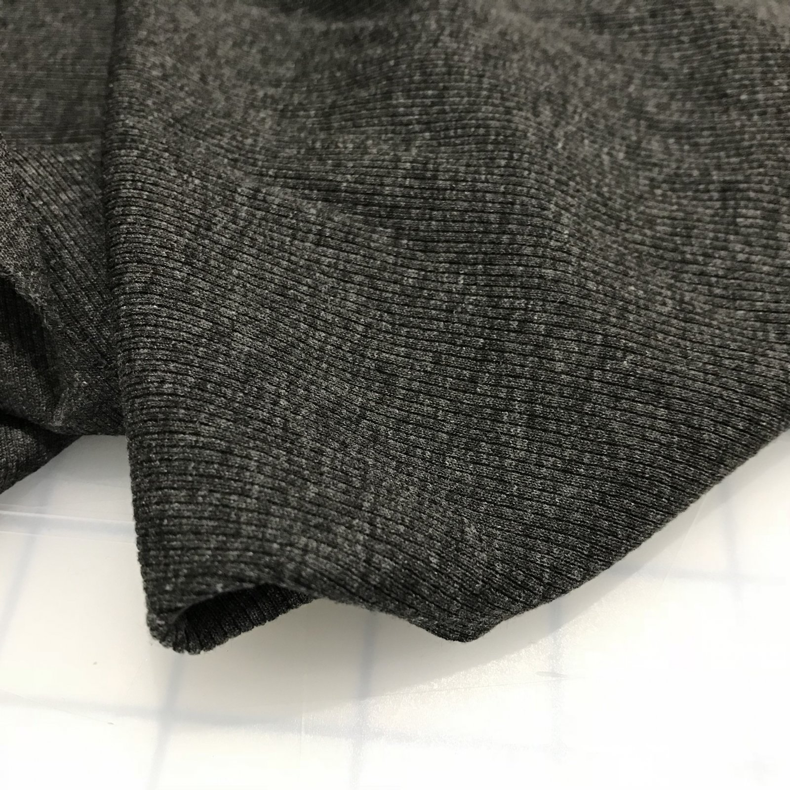 Rib Knit -  2 X 1 - Charcoal