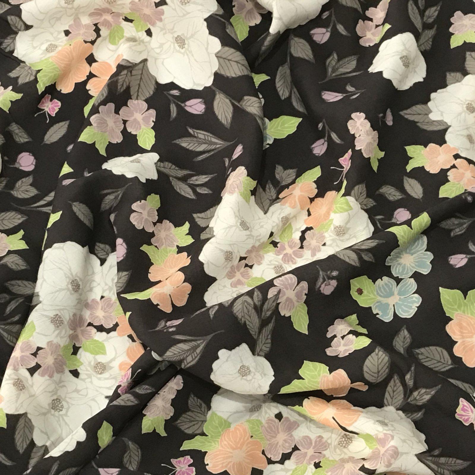 * Four Featured Fabrics: Rayon Challis - Flowery Chant