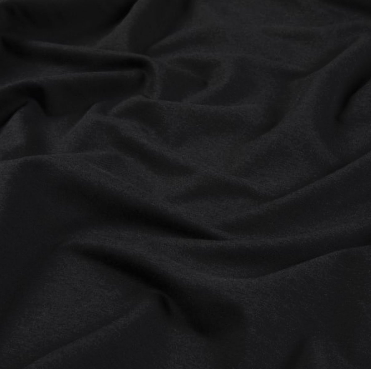 Bamboo-Cotton French Terry - Black
