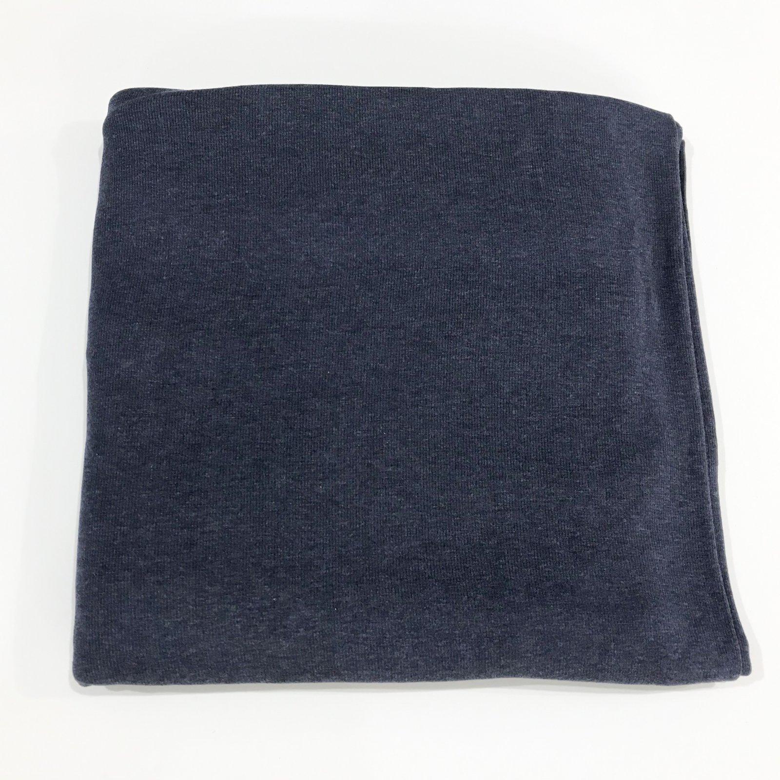 2 yards - Rib Knit - Micro Modal 1 x 1 Rib - Navy Melange