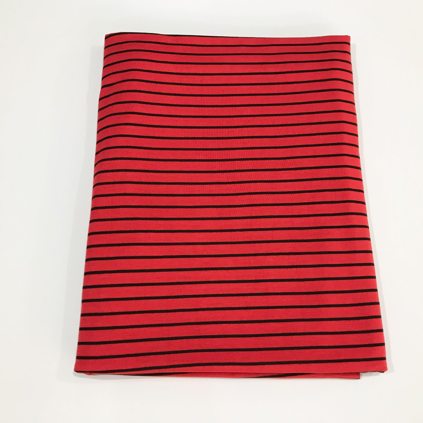 1 1/2 yards - Bamboo Stripe - Red and Black