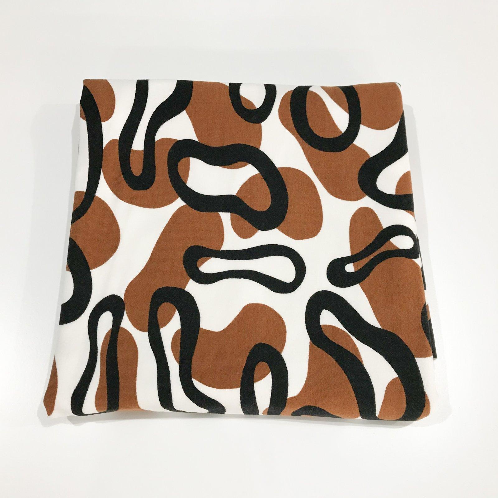 1 1/8 yard - Avalana Sweat - Animal Prints in Cream