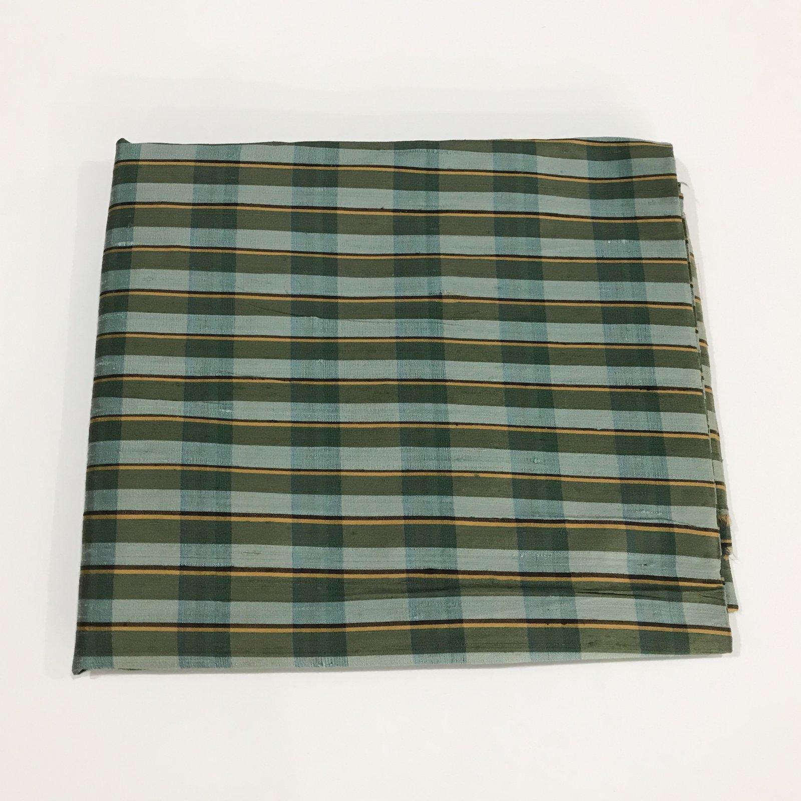 2 yards + 4 inches - Silk Dupioni- Green Tones
