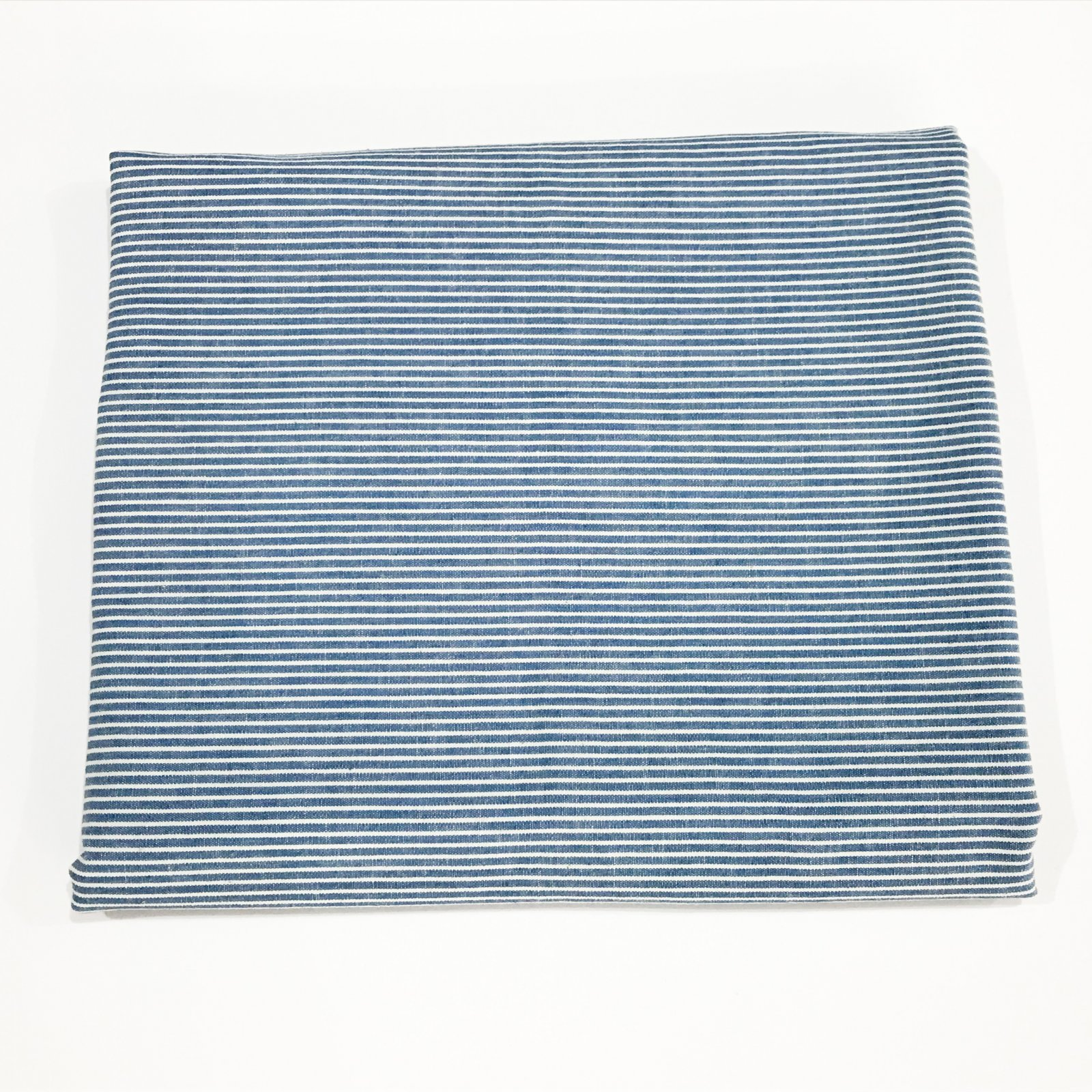 1 yard + 35 inches - Cotton Pale Blue Striped Chambray