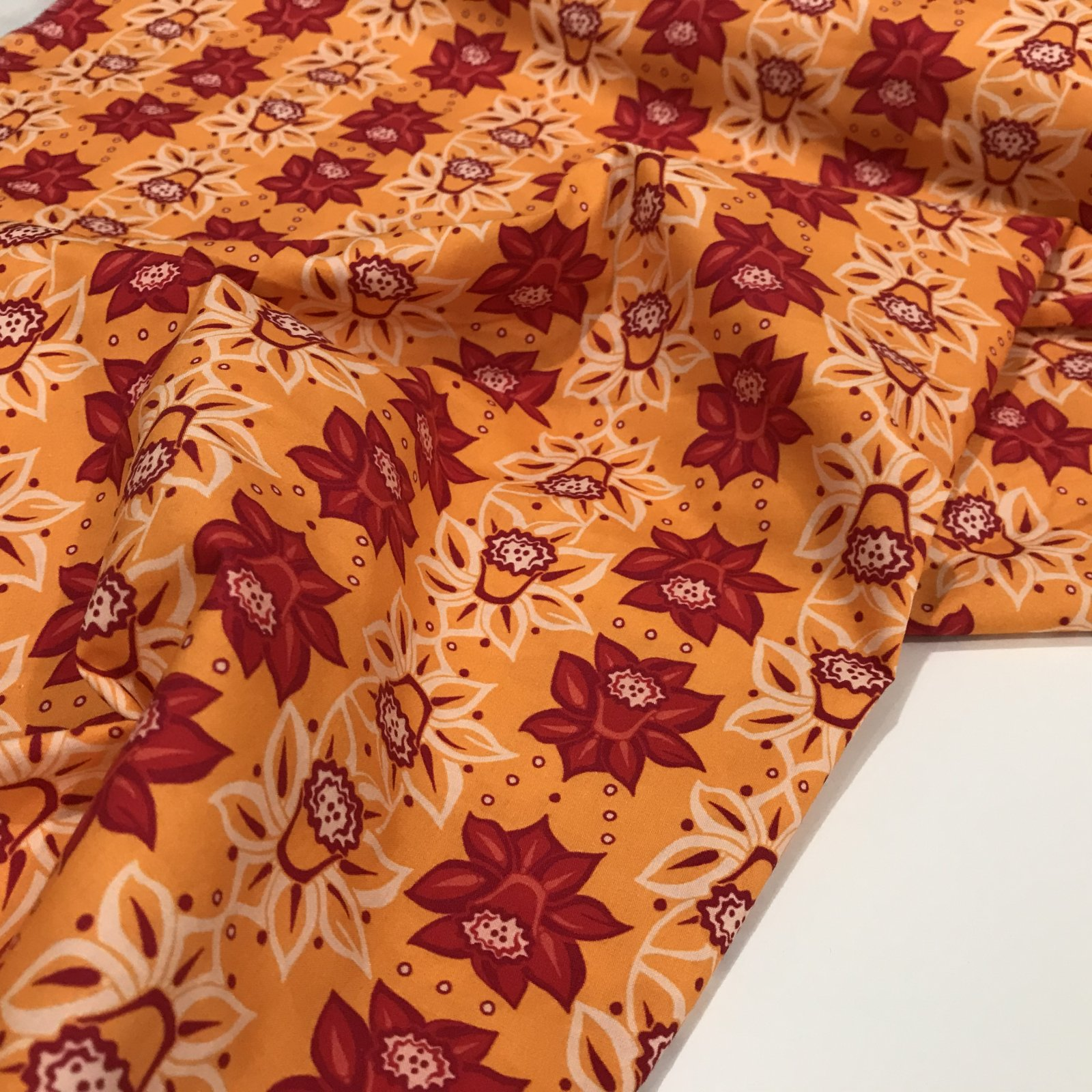 100% Organic Cotton Poplin - Festive Flora - Yellow