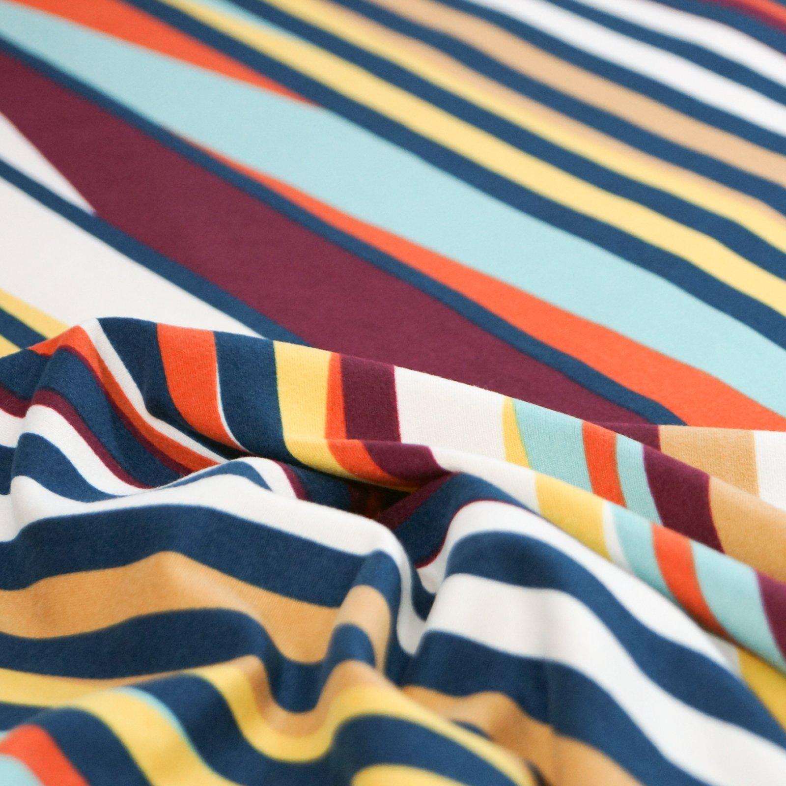 Knit - Stripes: Asymmetrical Sunset Colors