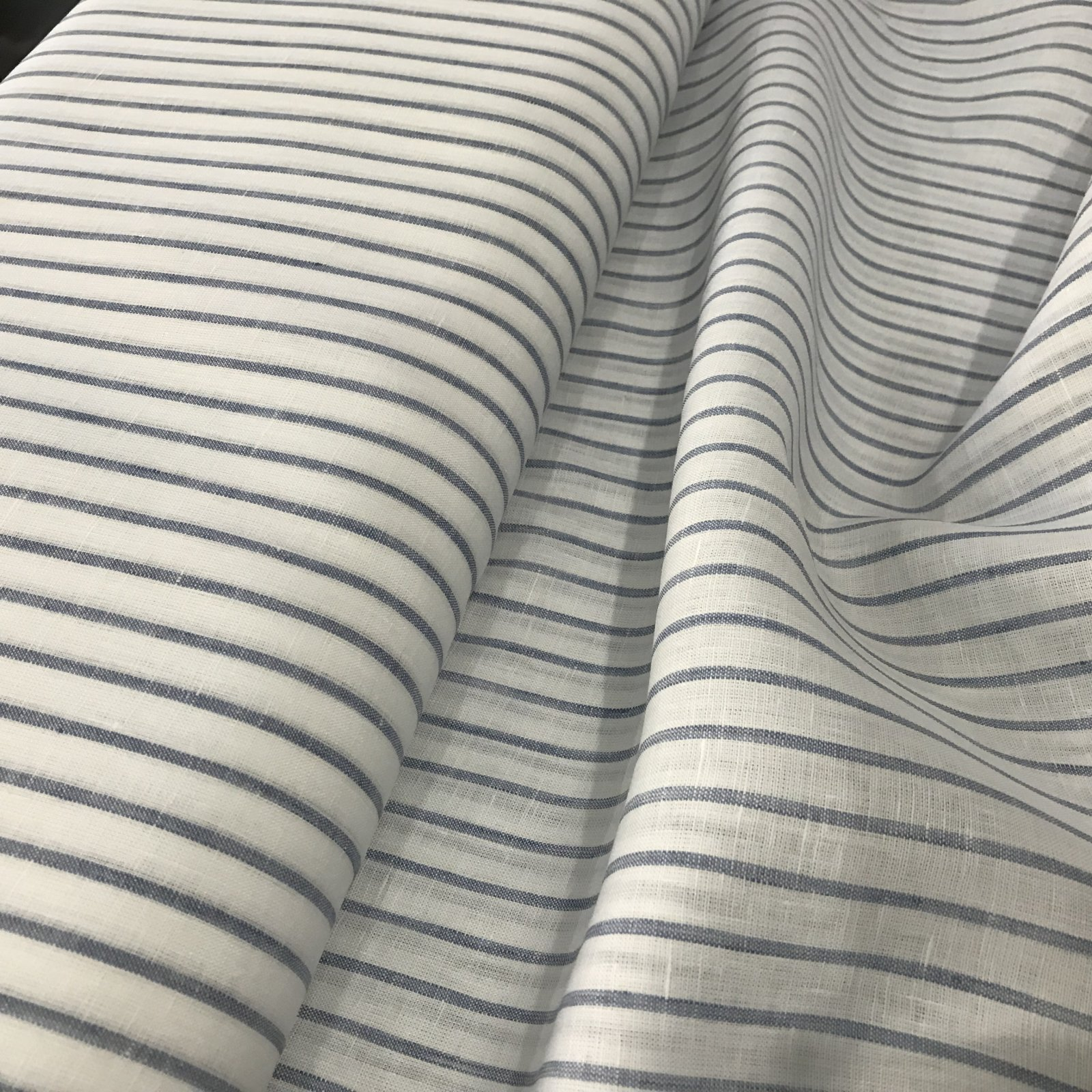 Linen - Blue & White Stripe