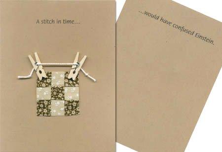 Note Card - A stitch in time....
