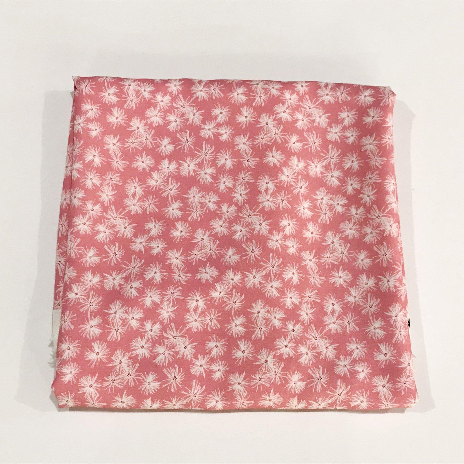 1 1/8 yard - Rayon Mt. Meadow Whisper Pink