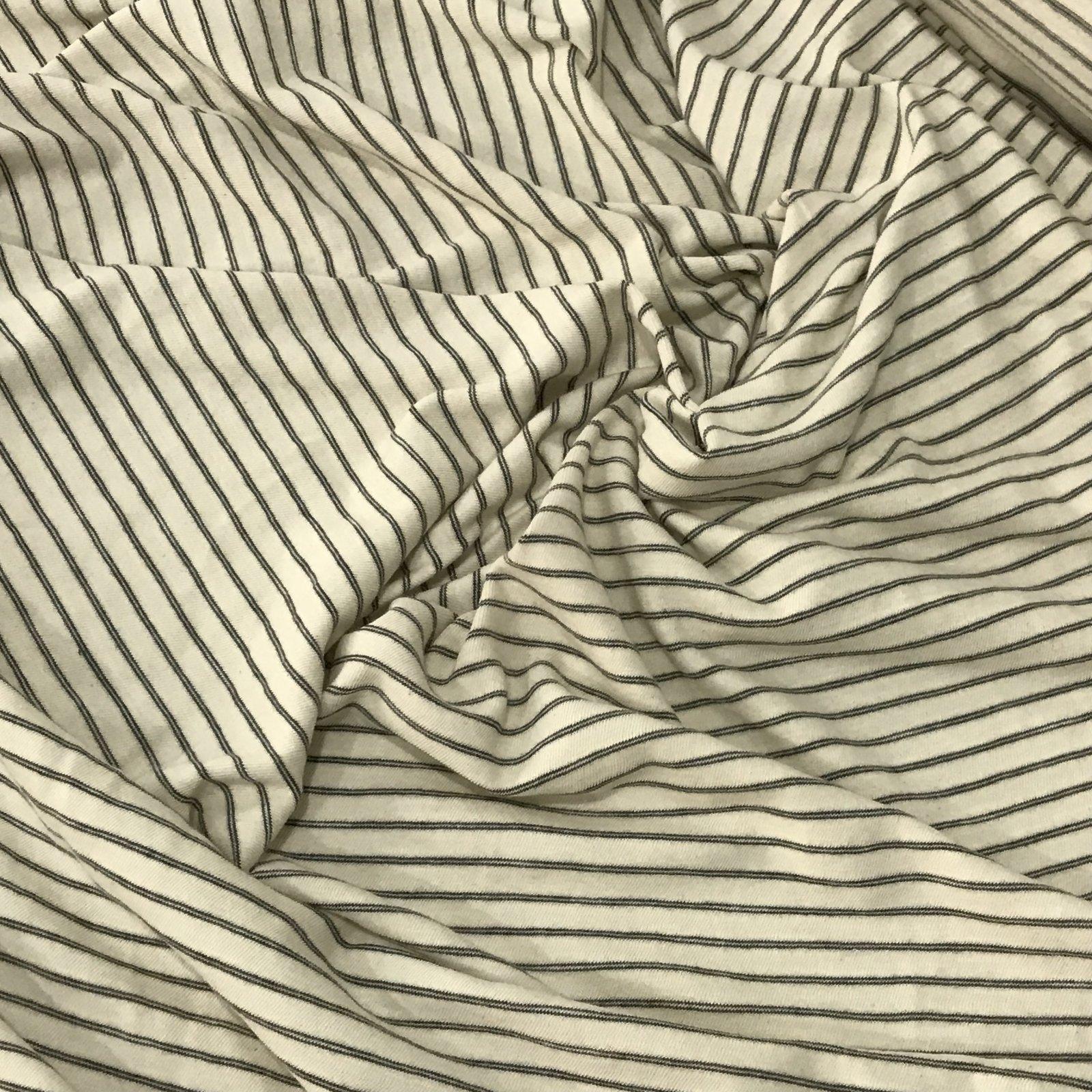Cotton Knit - Cream with Black Stripe