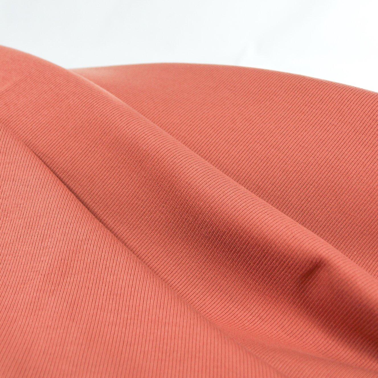 Rib Knit - 2 x 1 -  Organic Terra Cotta