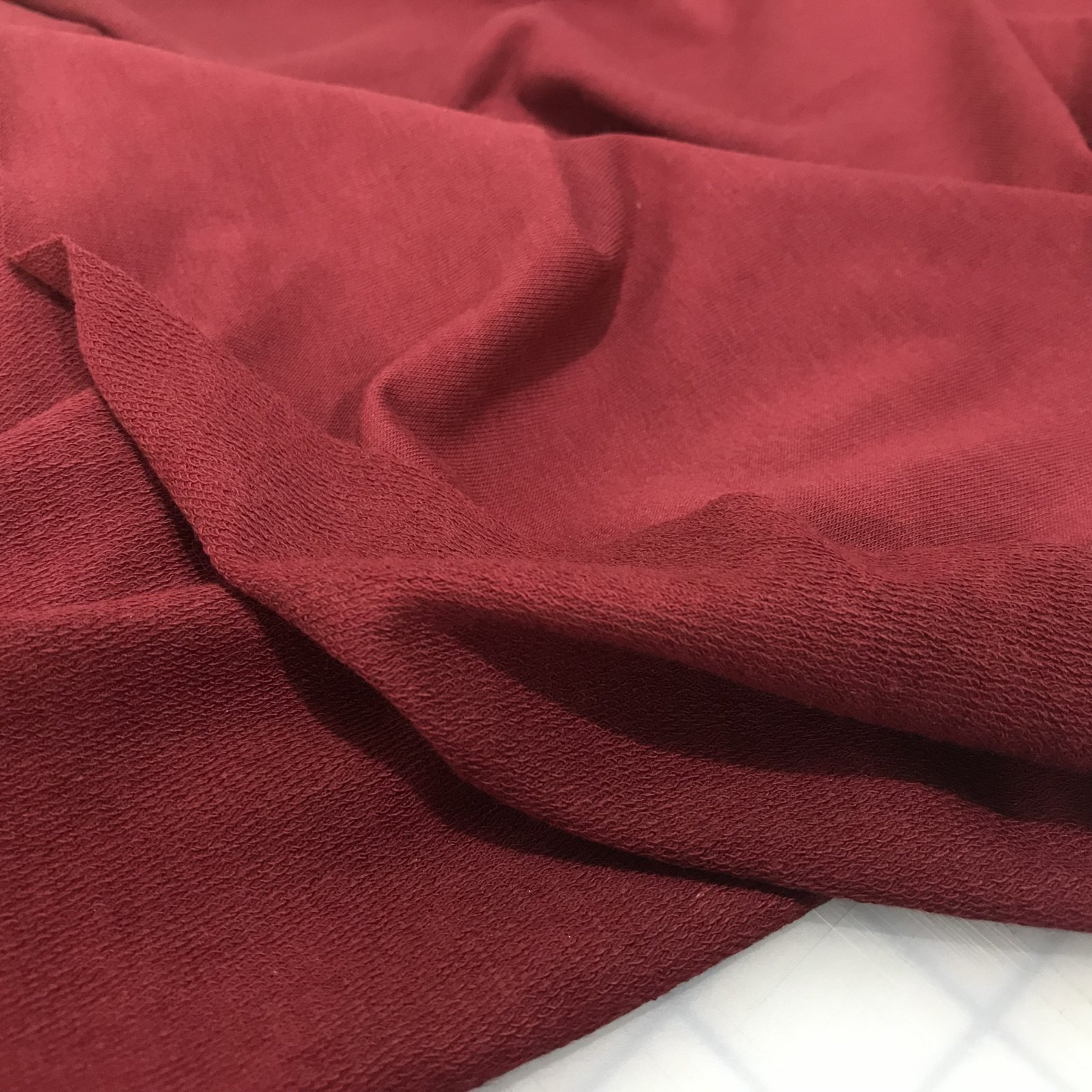 Bamboo/Cotton French Terry -  Ruby