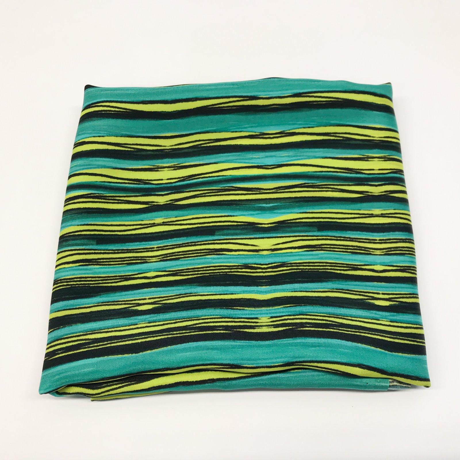 1 yard + 10 inches - Silk - Cool Stripes