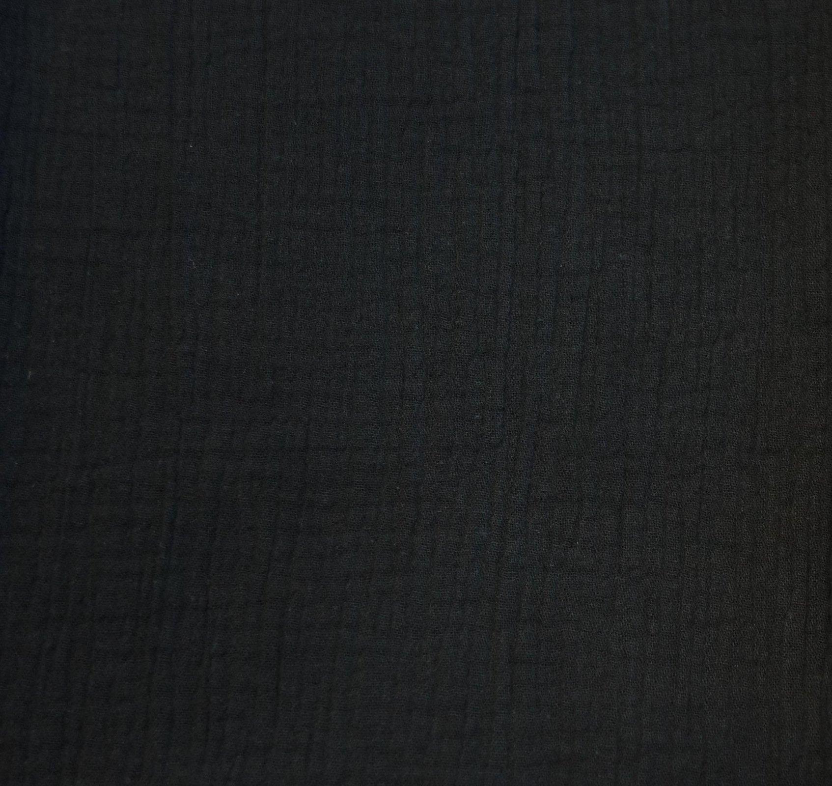 Cotton Double Gauze -  Organic Black