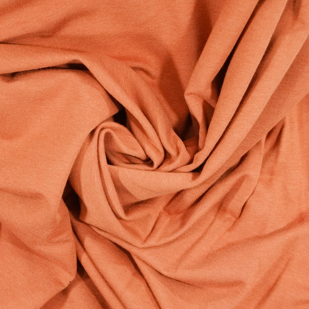 Bamboo-Cotton French Terry - Terra Cotta