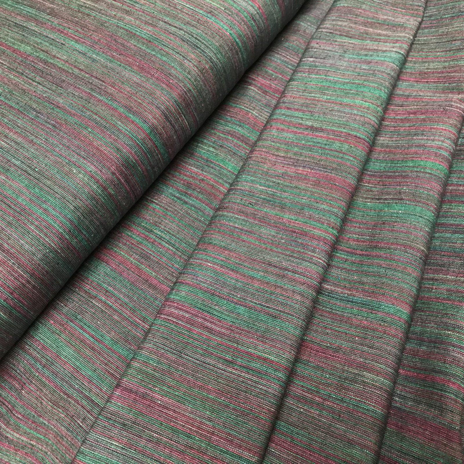 Ombre Yarn Dyed Ikat - Green & Fuchsia