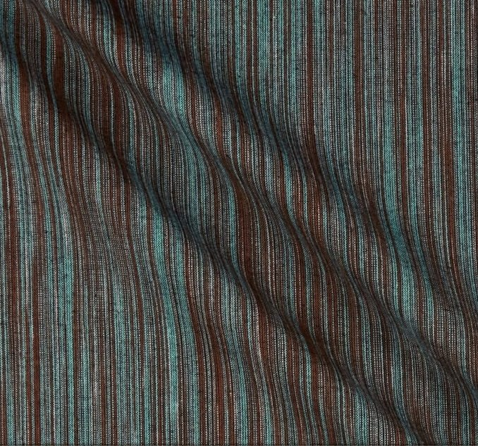 Ombre Yarn Dyed Ikat - Turquoise & Brown