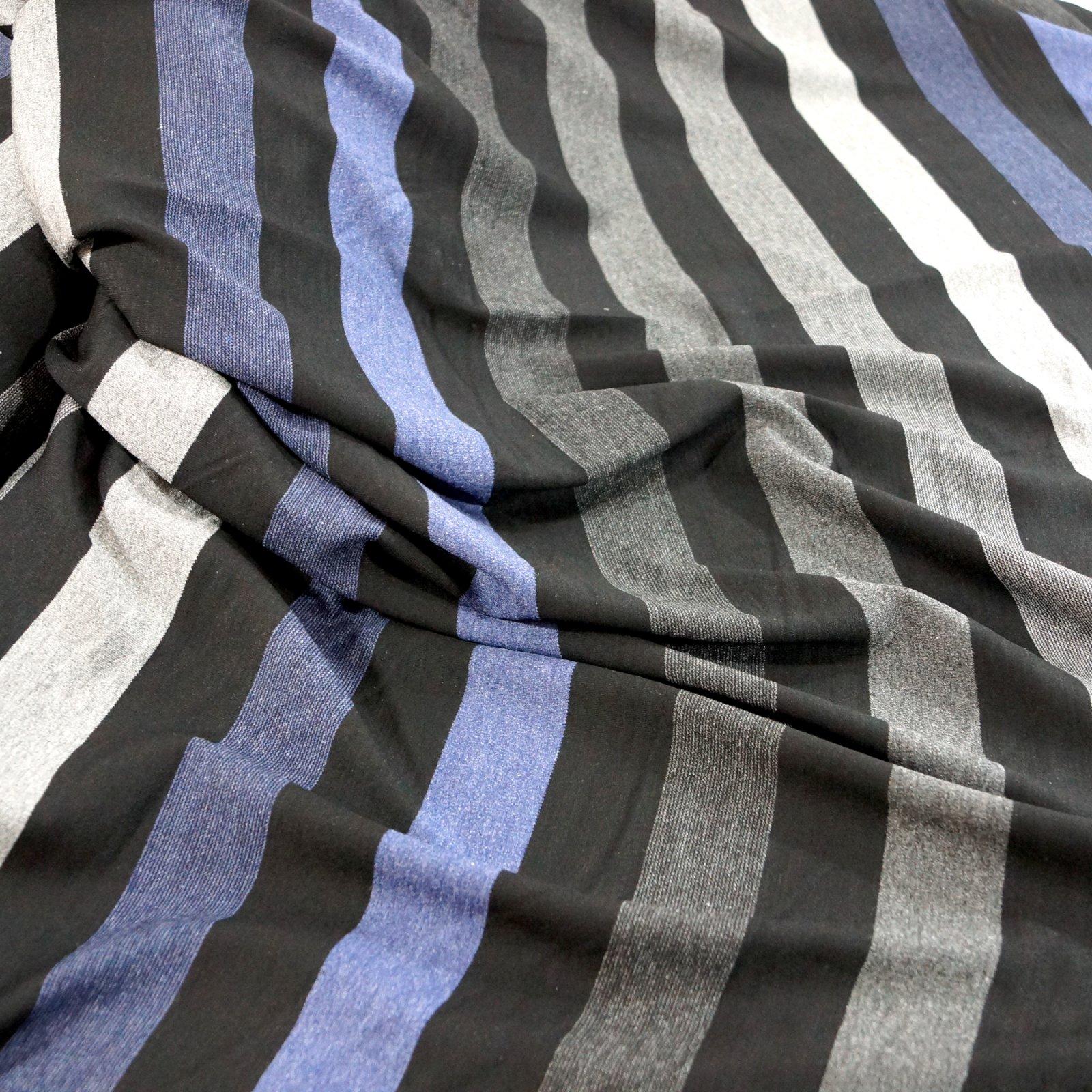 Rayon Ponte - Black, Blue, and Grays